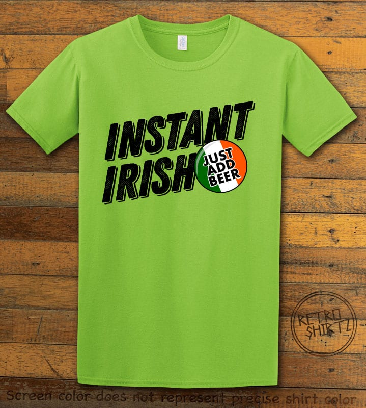 This is the main graphic design on a lime shirt for the St Patricks Day Shirts: Instant Irish