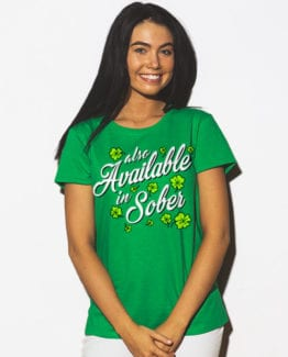 This is the main model photo for the St Patricks Day Shirts: Also Available in Sober