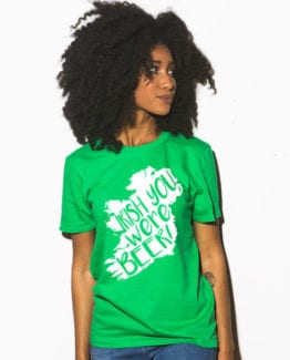 This is the main model photo for the St Patricks Day Shirts: Irish You Were Beer