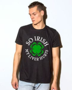 This is the main model photo for the St Patricks Day Shirts: Irish Liver Hurts