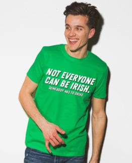 This is the main model photo for the St Patricks Day Shirts: Not Everyone Can Be Irish