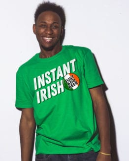 This is the main model photo for the St Patricks Day Shirts: Instant Irish