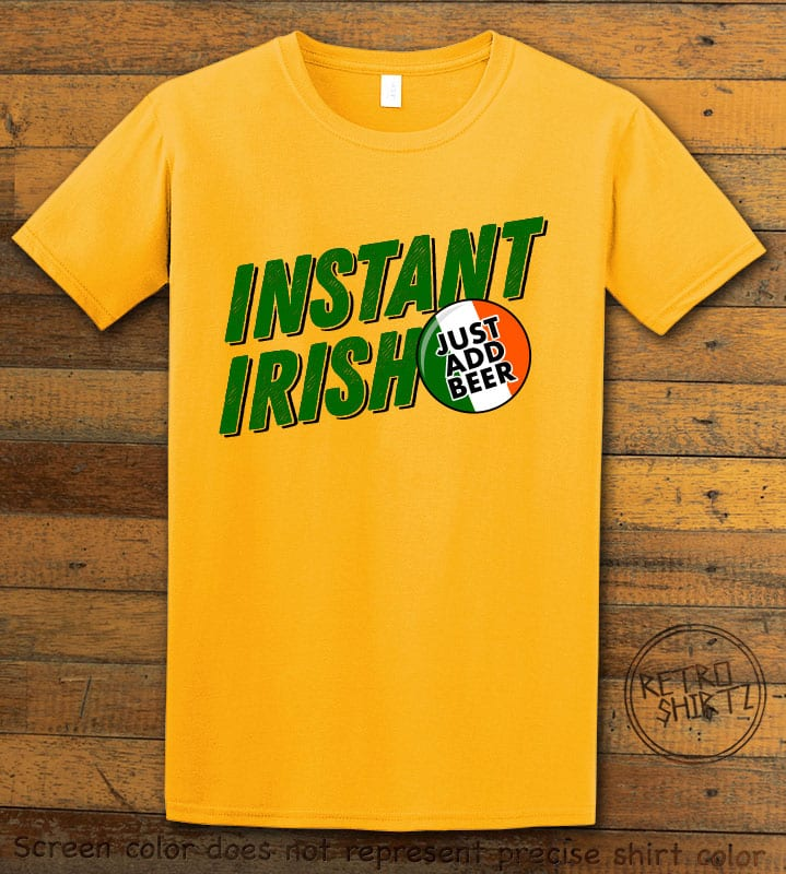 This is the main graphic design on a yellow shirt for the St Patricks Day Shirts: Instant Irish