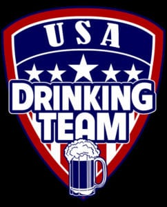 This is the main graphic design for the USA Drinking Team