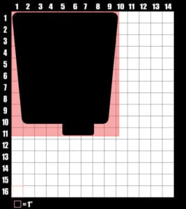 These are the graphic design dimensions for the Weed Shirt: Seven Eleven Four Twenty 7/11 4/20