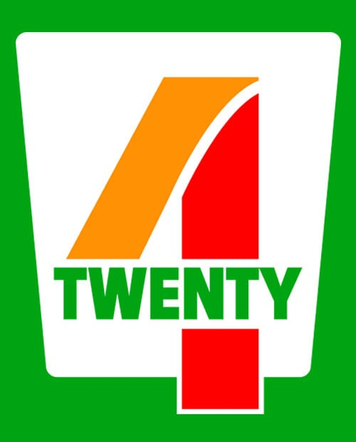 This is the main graphic design for the Weed Shirt: Seven Eleven Four Twenty 7/11 4/20
