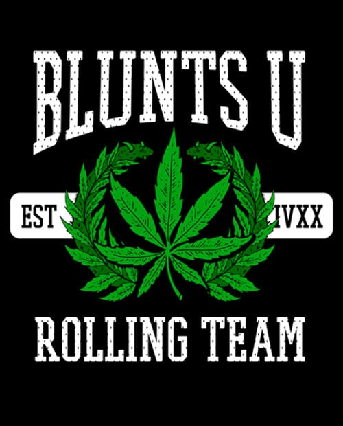 This is the main graphic design for the Weed Shirt: Blunts University