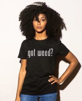 This is the main model photo for the Weed Shirt: Got Weed