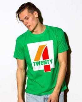 This is the main model photo for the Weed Shirt: Seven Eleven Four Twenty 7/11 4/20