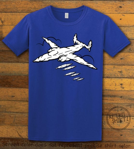 This is the main graphic design on a royal shirt for the Weed Shirt: Joint Bomber Plane