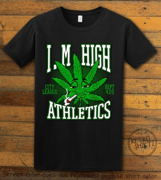 This is the main graphic design on a black shirt for the Weed Shirt: Marijuana High School