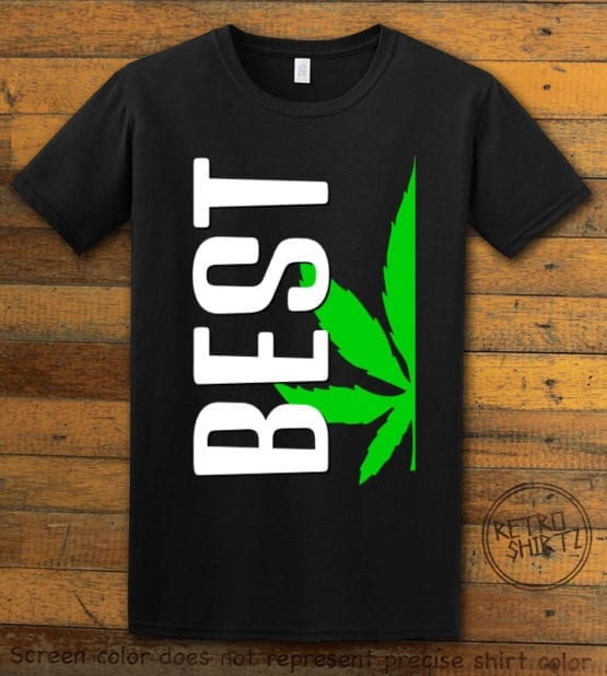 This is the main graphic design on a black shirt for the Weed Shirt: Best of Best Buds