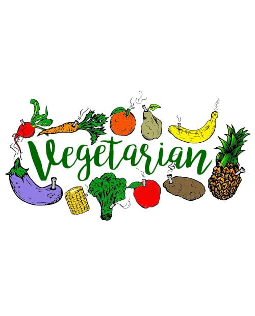 This is the main graphic design for the Weed Shirt: Vegetarian
