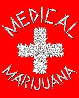 This is the main graphic design for the Weed Shirt: Medical Marijuana