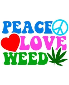 This is the main graphic design for the Weed Shirt: Peace Love Weed