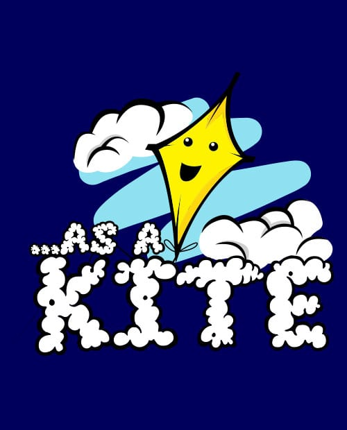 This is the main graphic design for the Weed Shirt: High as a Kite