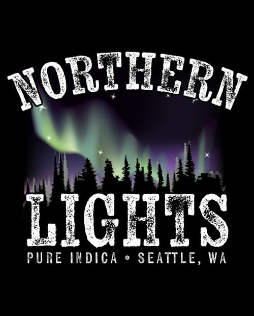 This is the main graphic design for the Weed Shirt: Northern Lights Indica