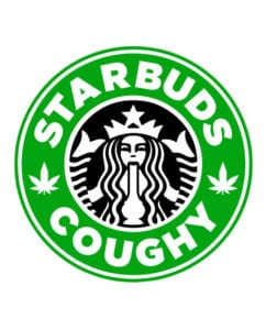 This is the main graphic design for the Weed Shirt: Starbuds Starbucks Marijuana