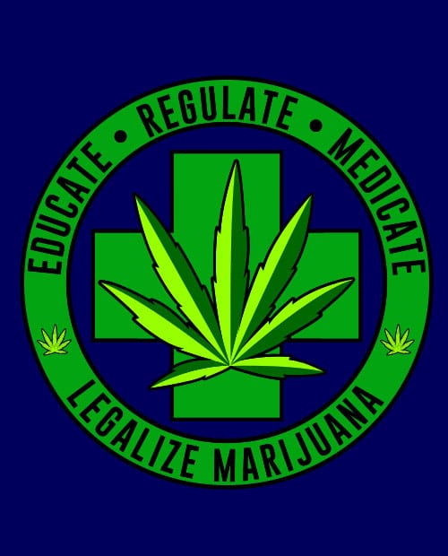 This is the main graphic design for the Weed Shirt: Legalize Medical Marijuana