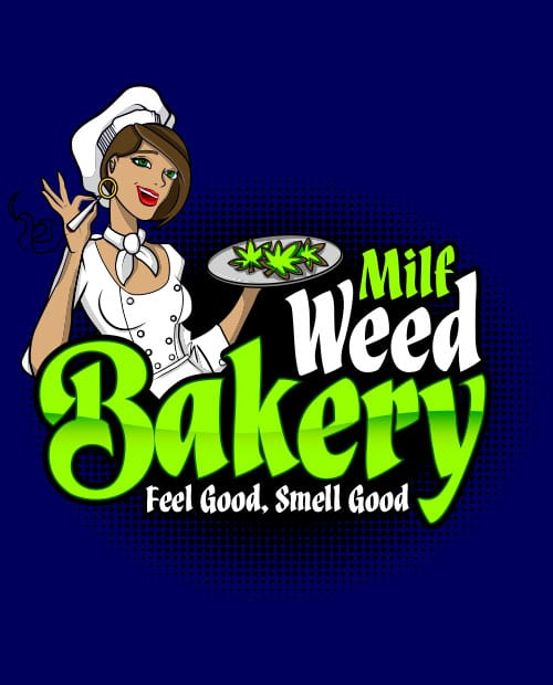 This is the main graphic design for the Weed Shirt: Milf Weed Bakery