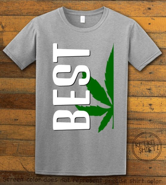 This is the main graphic design on a gray shirt for the Weed Shirt: Best of Best Buds