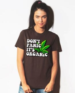 This is the main model photo for the Weed Shirt: Don't Panic It's Organic