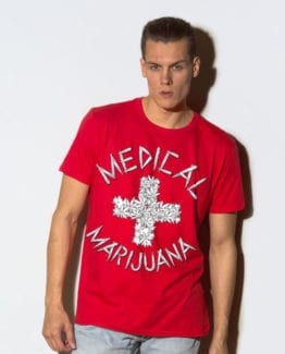This is the main model photo for the Weed Shirt: Medical Marijuana