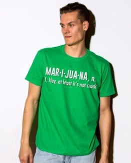 This is the main model photo for the Weed Shirt: Marijuana Definition