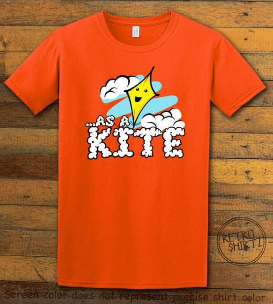 This is the main graphic design on a orange shirt for the Weed Shirt: High as a Kite