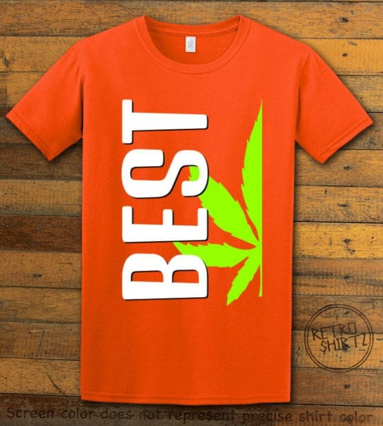 This is the main graphic design on a orange shirt for the Weed Shirt: Best of Best Buds