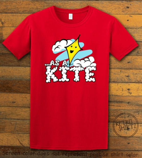 This is the main graphic design on a red shirt for the Weed Shirt: High as a Kite