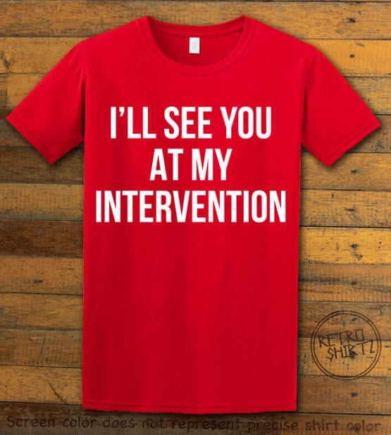 This is the main graphic design on a red shirt for the Weed Shirt: Drug Intervention