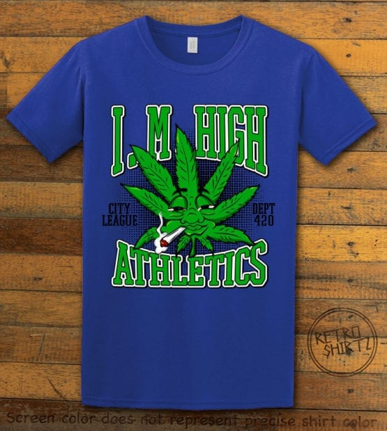 This is the main graphic design on a royal shirt for the Weed Shirt: Marijuana High School