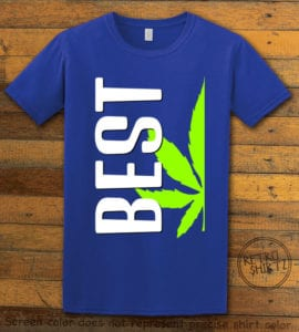 This is the main graphic design on a royal shirt for the Weed Shirt: Best of Best Buds