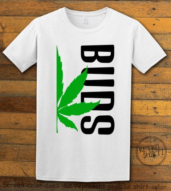 This is the main graphic design on a white shirt for the Weed Shirt: Buds of Best Buds