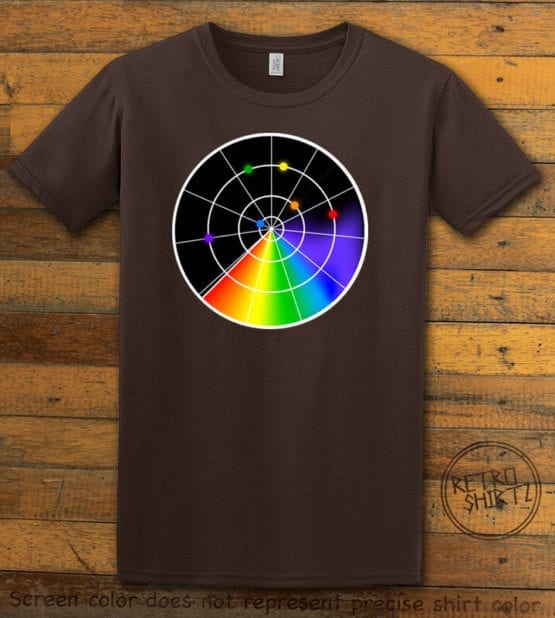 This is the main graphic design on a brown shirt for the Pride Shirts: Gaydar