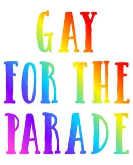 This is the main graphic design for the Pride Shirts: Pride Parade