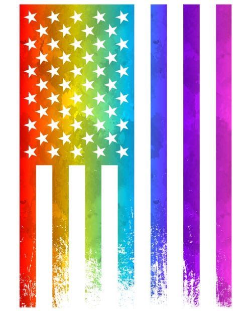 This is the main graphic design for the Pride Shirts: Pride Flag Distressed