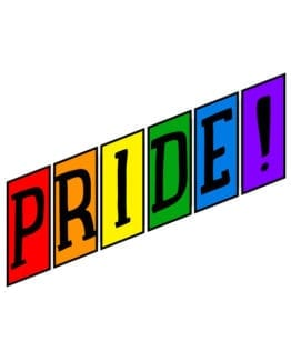 This is the main graphic design for the Pride Shirts: Retro Gay Pride