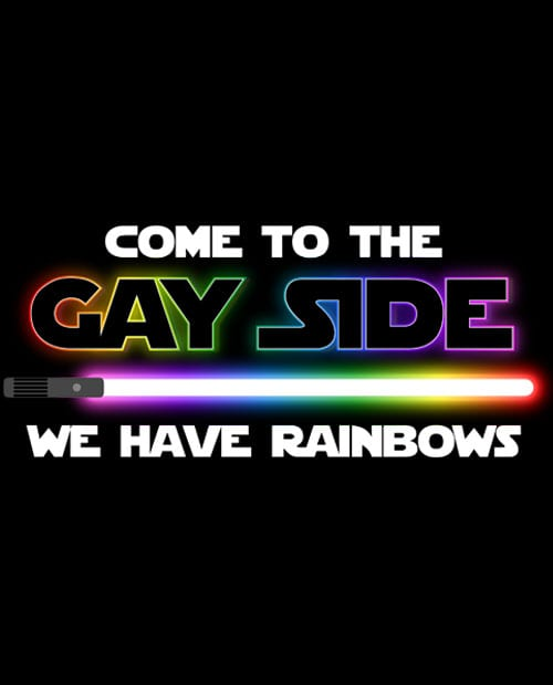 This is the main graphic design for the Pride Shirts: Dark Side Gay Pride