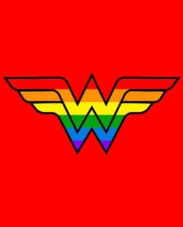 This is the main graphic design for the Pride Shirts: Wonder Woman Pride