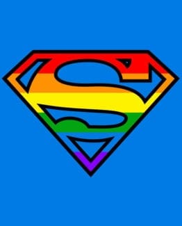 This is the main graphic design for the Pride Shirts: Superman Pride