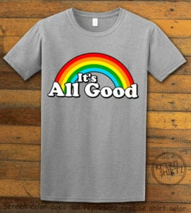 This is the main graphic design on a gray shirt for the Pride Shirts: Good Rainbow