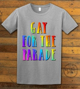 This is the main graphic design on a gray shirt for the Pride Shirts: Pride Parade
