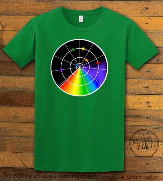 This is the main graphic design on a green shirt for the Pride Shirts: Gaydar