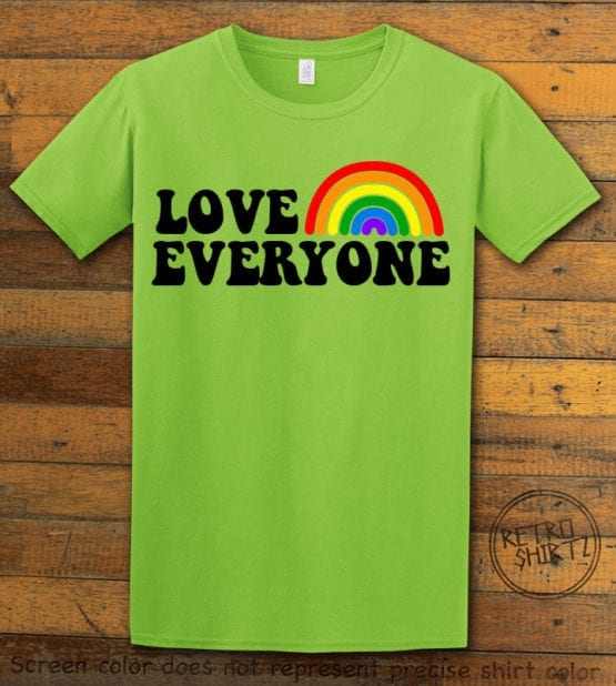 This is the main graphic design on a shirt for the Pride Shirts: Love Everyone