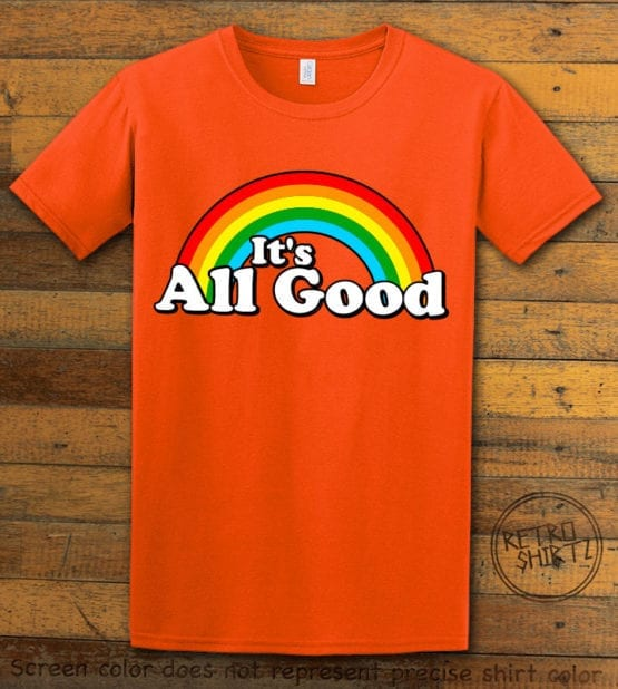 This is the main graphic design on a orange shirt for the Pride Shirts: Good Rainbow