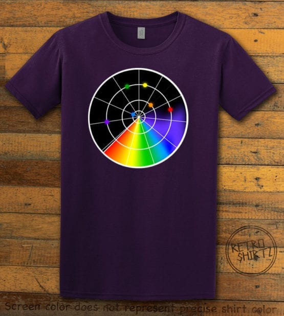 This is the main graphic design on a purple shirt for the Pride Shirts: Gaydar