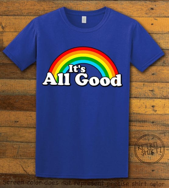 This is the main graphic design on a royal shirt for the Pride Shirts: Good Rainbow