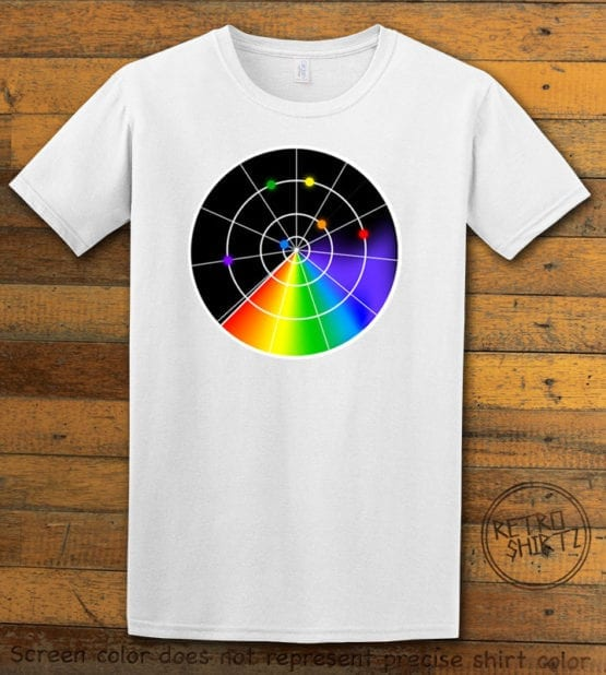 This is the main graphic design on a white shirt for the Pride Shirts: Gaydar